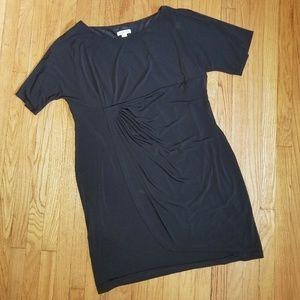 5/$25 Coldwater Creek Slinky Knit Dress Black L22
